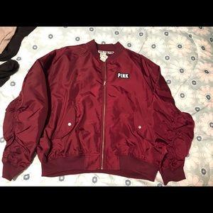 NWT maroon pink bomber jacket